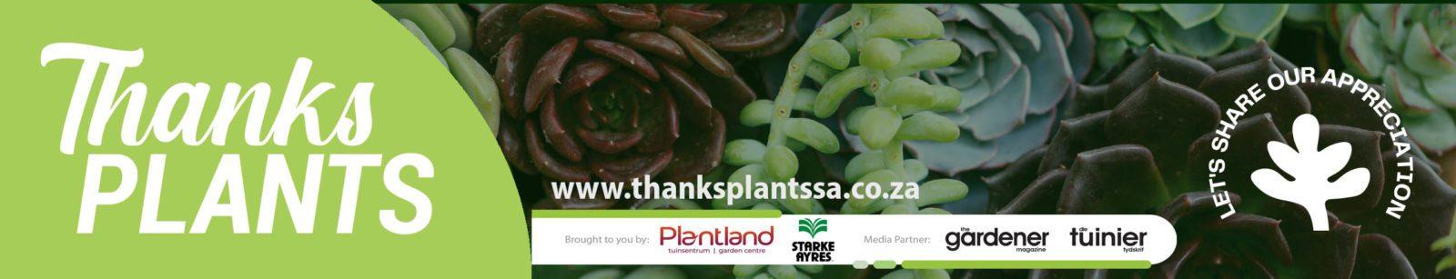 Thanks Plants Banner